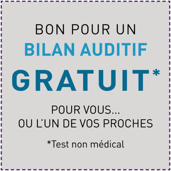 Offre_Octobre_bon pour un bilan auditif gratuit Audio audiens test auditif aides auditives rechargeables Audiens Saint Amant Tallende Audiens Rochefort Montagne