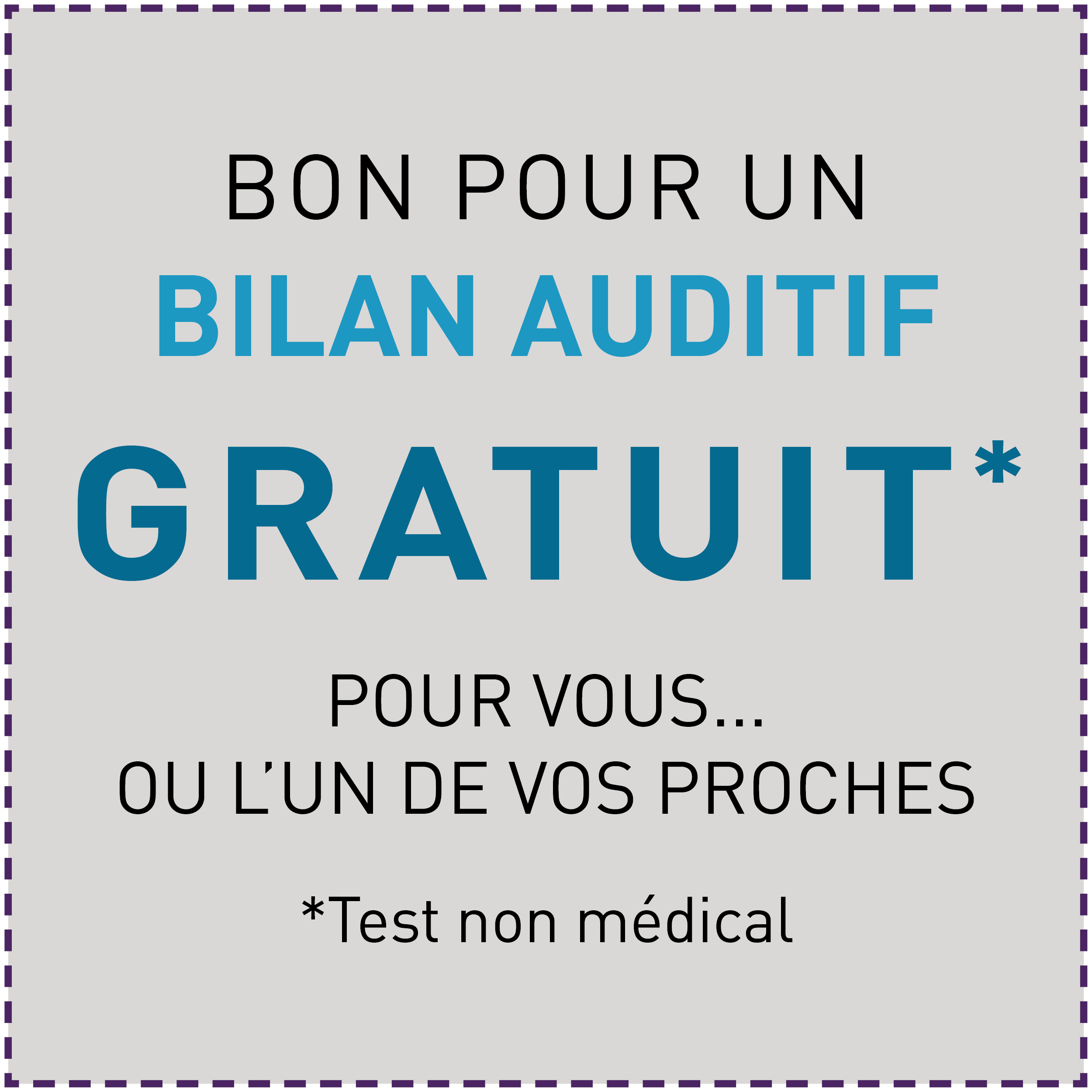 Offre_Octobre_bon pour un bilan auditif gratuit Audio audiens test auditif aides auditives rechargeables Audiens Saint Amant Tallende Audiens Rochefort Montagne